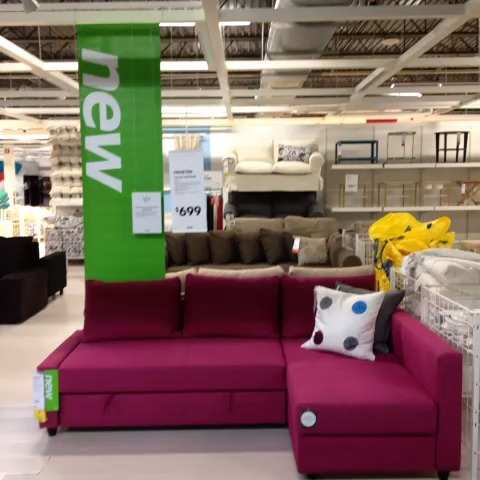 "Watch IKEA ORLANDO s Vine "" New FRIHETEN corner sofa bed has storage that s perfect for extra"