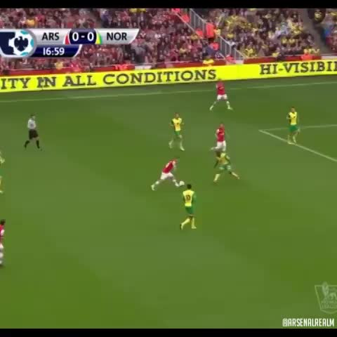 Vine by Arsenalrealm - Jack Wilsheres goal against Norwich #wilshere #reaction #funny