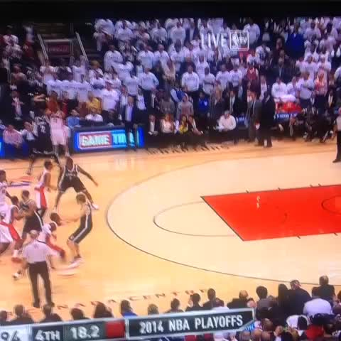 Amir Johnson puts the Raptors back up by 4. - RealGMs post on Vine