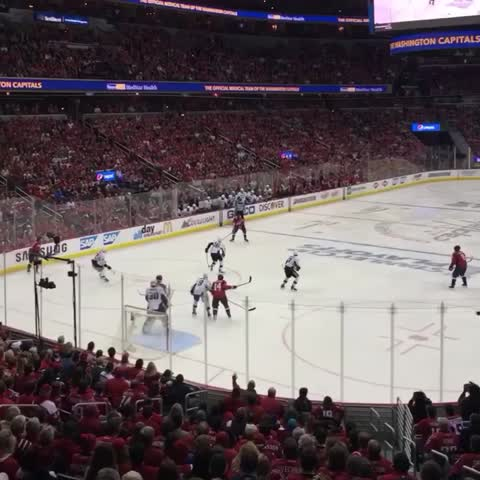 Vine by Washington Capitals - Verizon Center jumping for JoJo. #CapsPens #RockTheRed