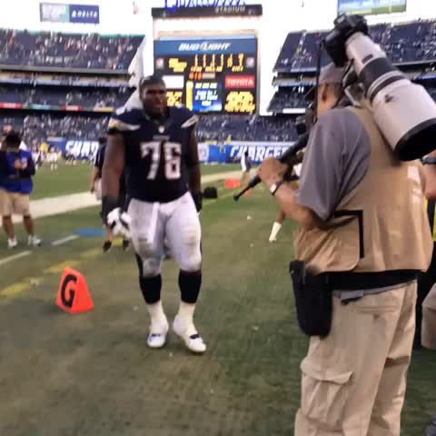 San Diego Chargerss post on Vine - Fluker is pumped!! - San Diego Chargerss post on Vine
