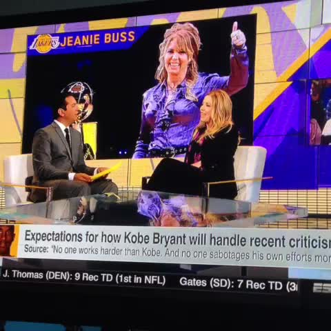Jeanie Buss does not like report of free agents being scared off by Kobe Bryant - Jason Marcums post on Vine