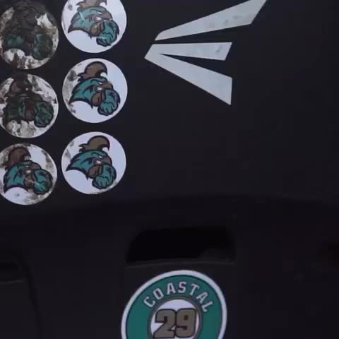 Vine by NCAA Baseball - Chants looking to add some helmet stickers tonight! #CWS