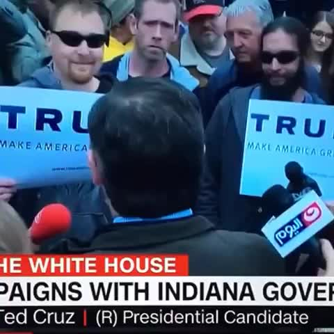 Vine by Daniel Scavino Jr. - LYIN TED goes to talk with Trump supporters in Indiana.