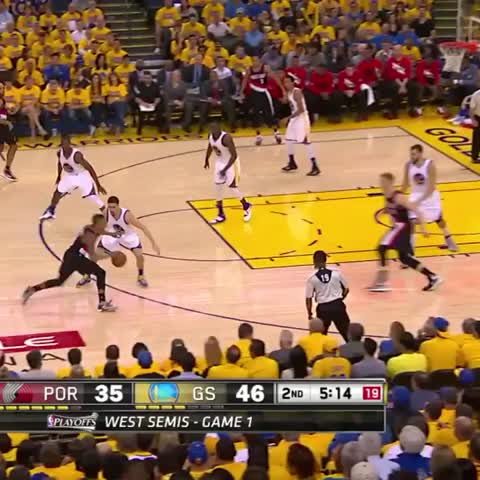 Vine by warriors - Draymond strong. (ABC)