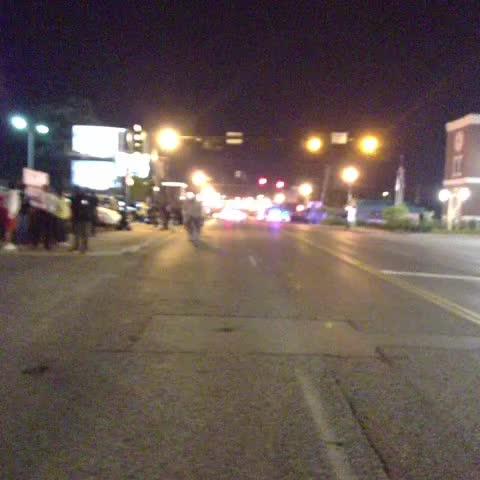 Street is blocked off. #Ferguson - Nettas post on Vine