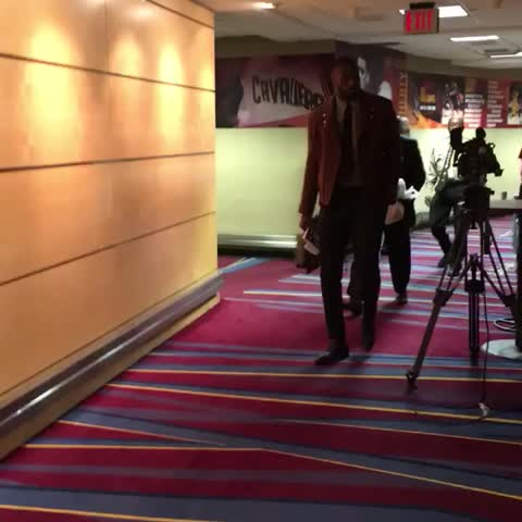 Vine by NBA - LeBron arrives for Game 2 as the @Cavs look to take a 2-0 series lead. Tips at 8pm/et on TNT.