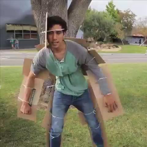 Zach King – Cardboard invisibility suit izle