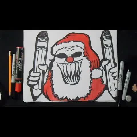 Watch ZäXxs Vine, \u0026quot;Dibujo Drawing Graffiti ZaXx Urbanart Spraycan dubstep spray Grafite Graffart Skrillex DirtyVibe clown SantaClaus graff