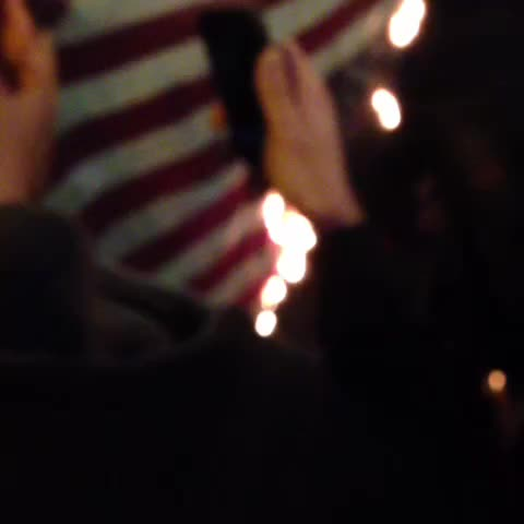 Burning the flag in Chinatown #ferguson #dcferguson #blacklivesmatter - Thadeus Suggss post on Vine