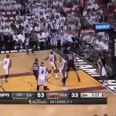 Basketball Insanity™s post on Vine - Vine by Basketball Insanity - Kawhi Leonard filthy putback dunk off Patty Mills miss. Spurs take commanding 3-1 lead in the #nbafinals #BasketballInsanity