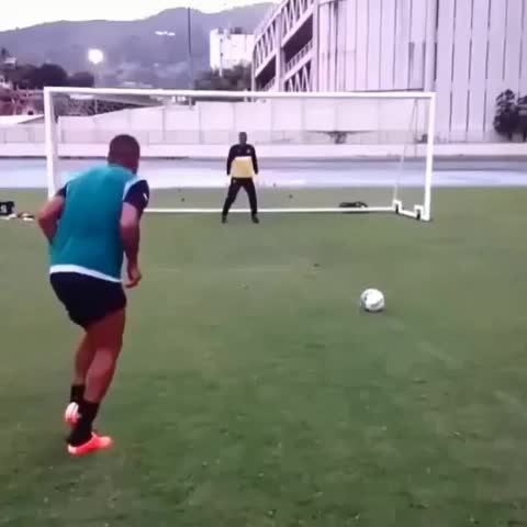 Vine by Soccervines - Tag friend to try 😂😂😂 #soccervines #soccer #soccergoals #funny #goal #golazo #fussball #voetbal #penalty #penaltyshot