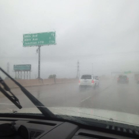 Moderate rain from Longmont to Downtown. I 25 a bit slower than normal. #cowx - Matt Makens 24-7 Wxs post on Vine