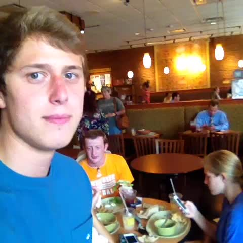 Stewie Austins post on Vine - Sometime you just gotta get the people going #panera #freshass - Stewie Austins post on Vine