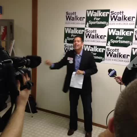 Rep. Sean Duffy and RNC Co-Chair Sharon Day rallying Republicans in Allouez - Andrew LaCombes post on Vine