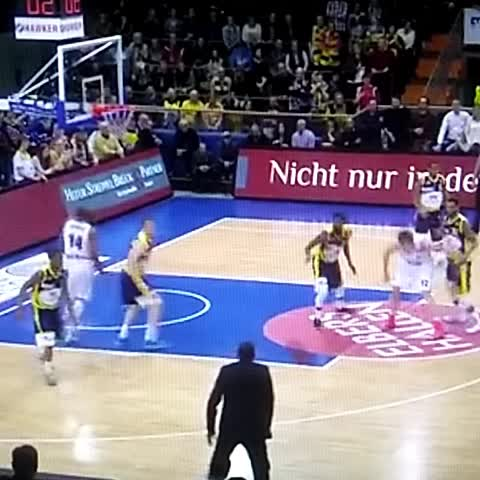 Vine by Barri78 - Coach In Germany Hits Three From Sideline (Tyron McCoy, Former Virginia Commonwealth Guard).