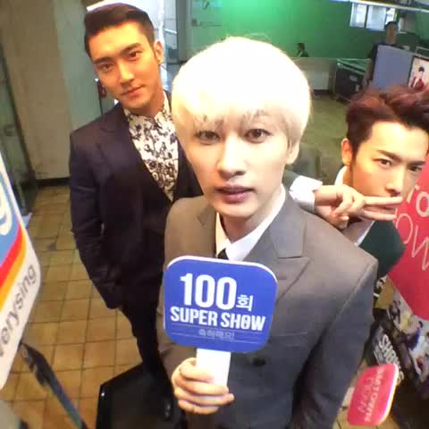"""[#100thSuperShow] #SuperJunior WORLD TOUR """"SUPER SHOW 6"""" with @smtownglobal, DONGHAE EUNHYUK SIWON - SMTOWN GLOBALs post on Vine"""