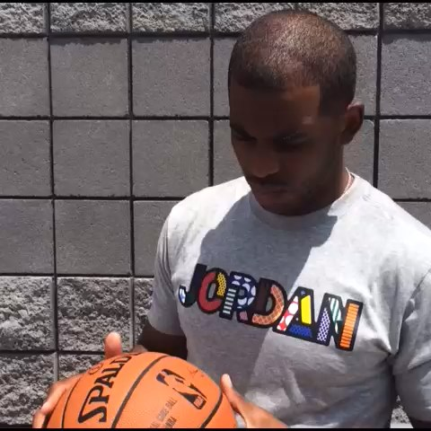 NBAs post on Vine - Chris Paul shows off the #NBAGameBall! - NBAs post on Vine