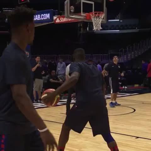 Vine by NBA - Draymond & Jimmy get it going from the wing during @USABasketball warmups. #USABMNT vs CHINA on @NBATV