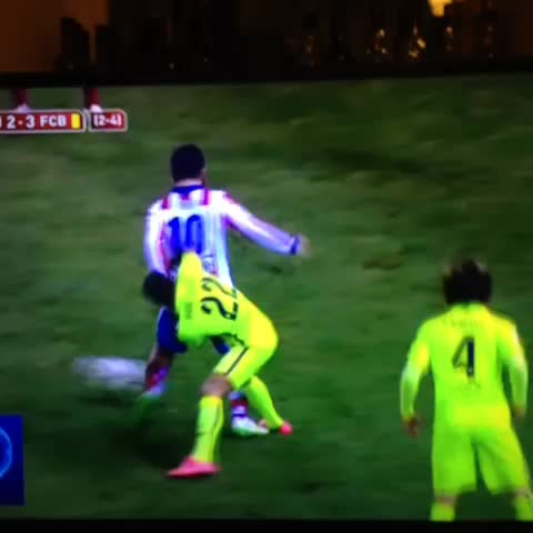 Vine by La Liga Blog - Turan doesnt get a free kick so hurls his boot into the crowd!