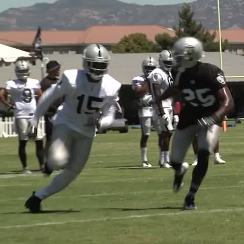Vine by OAKLAND RAIDERS - A strong interception by DJ Hayden during one-on-ones.