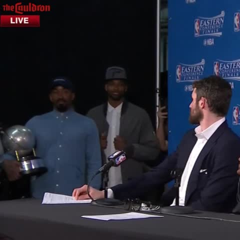 Vine by The Cauldron - JR Smith & Kevin Love Tweaking Each Other