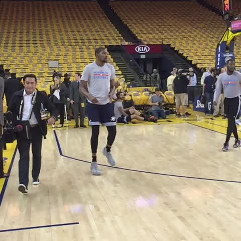 Vine by NBA - KD out on the court prior to tonights game 7 on TNT at 9pm/et