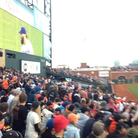 The amazing reaction to Brian Wilson rn #BeatLA #SFGiants - Dan Jacksons post on Vine