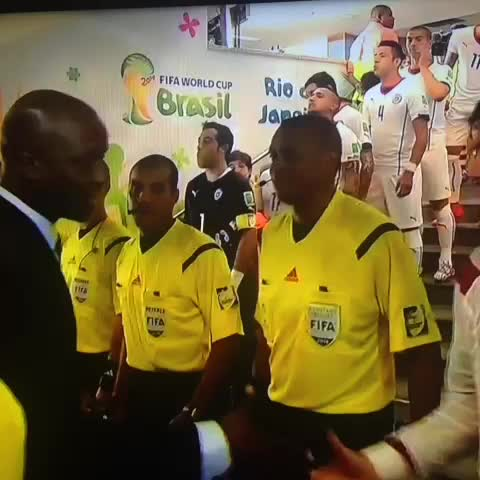 Ryan Fagans post on Vine - This cracks me up. Ref gets snubbed in the handshake line (momentarily). Great reaction ... - Ryan Fagans post on Vine