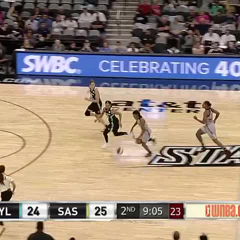 Vine by WNBA - Sydney Colson with a little #showtime on the Silver Stars fastbreak! 💫