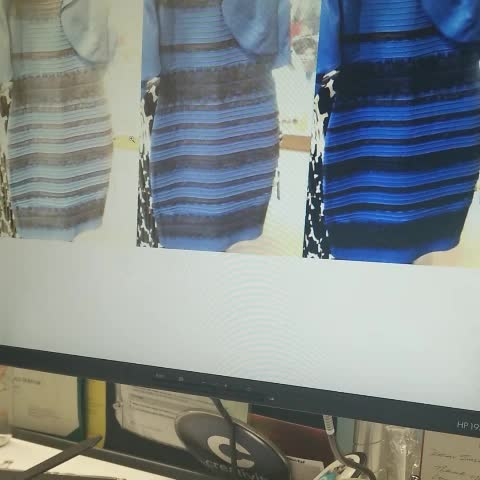 The Dress  How Colorblind People See It - ABC News 8387bd8a1