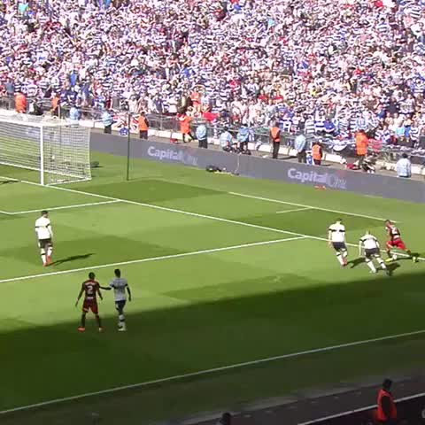 Vine by QPR FC - #OnThisDay in 2014, Bobby Zamoras late winner at Wembley Stadium clinched #QPR promotion to the Premierleague.