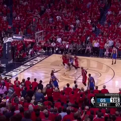 Vine by NBA on TNT - The last time the warriors entered the 4th qtr down double digits these playoffs...