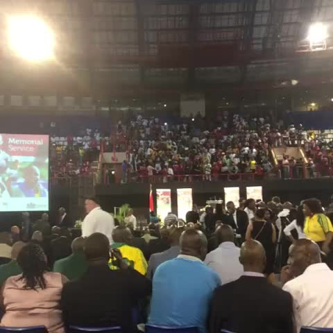 Soccer fans sing at the #jointMemorial #Meyiwa #Mulaudzi #Mwelase - They Call me MANs post on Vine