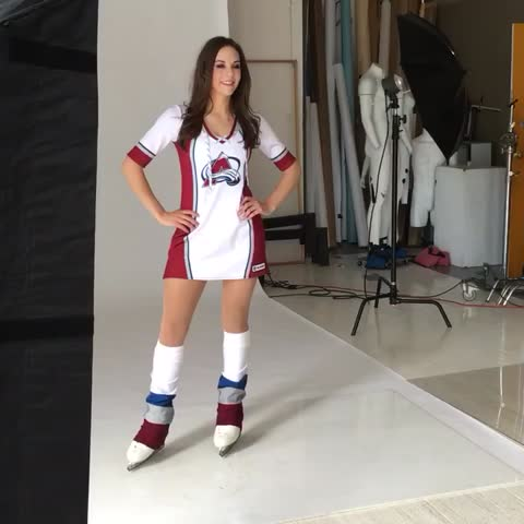 Vine by Colorado Avalanche - Ice Girls photoshoot!