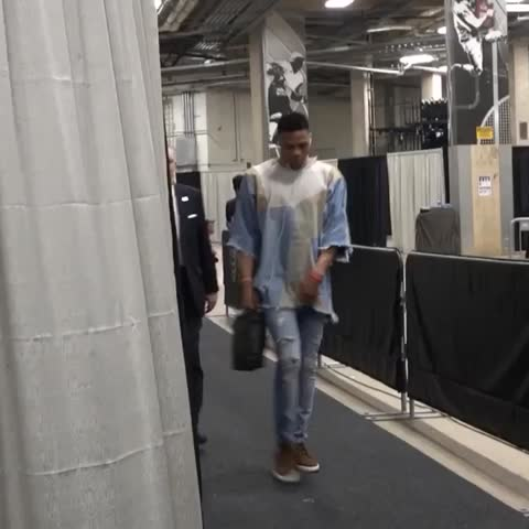 Vine by OKC THUNDER - Welcome to Round 2-Game 1, Russell.