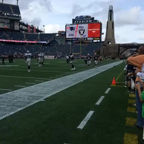 Brady & Garoppolo take the field for warmups. - New England Patriotss post on Vine