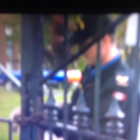 Brett Ruskins post on Vine - BREAKING: CFB Halifax gates being chained and locked. - Brett Ruskins post on Vine