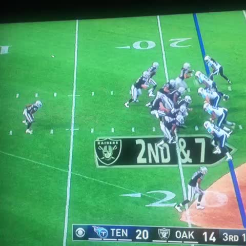 Vine by Nick Hjeltness - Jalen Richard, nice burst and cut upfield. Fights for extra yards after contact. #Raiders