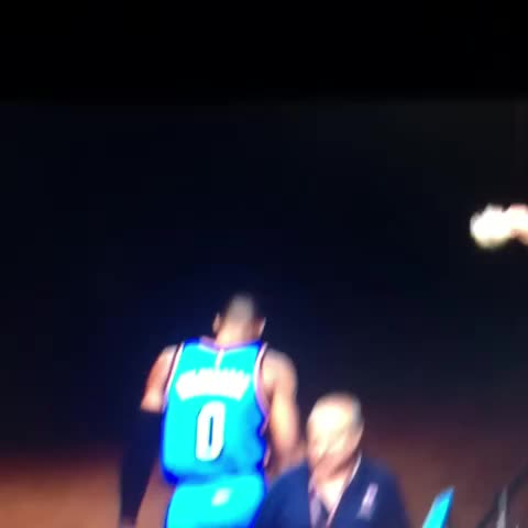 Russell Westbrook altercation with Clipper fan #NBA - Wolves Fans post on Vine