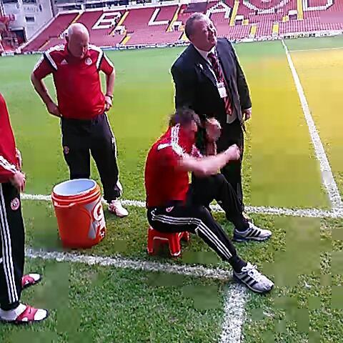 James Shields post on Vine - Chris Morgan meets the ice bucket. - James Shields post on Vine