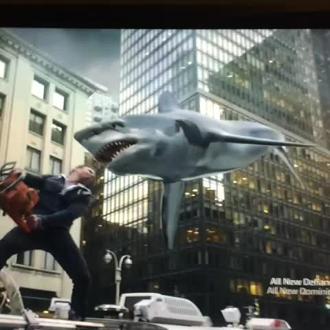 THE GREATEST SCENE IN THE HISTORY OF FILM. #SHARKNADO - Chris Mottrams post on Vine