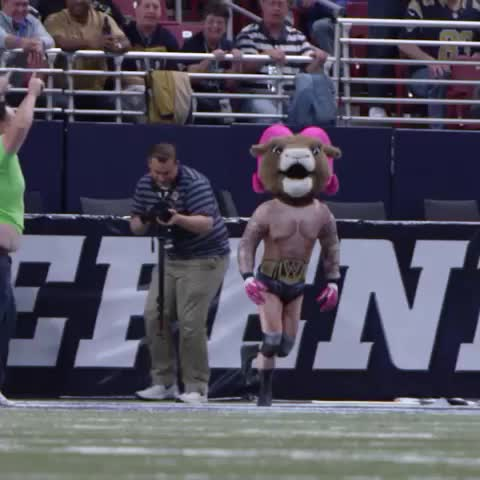 St Louis Ramss post on Vine - Its Rampage Rams Mascot OUT OF NOWHERE! #RKO - St Louis Ramss post on Vine