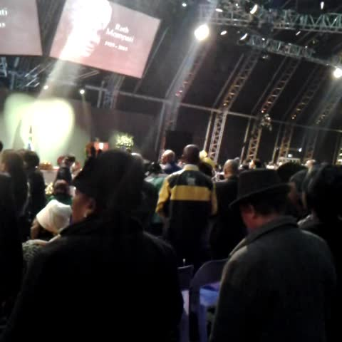 Vine by Christelle du Toit - Singimg hymns at the #RuthMompati official funeral event in Vruburg #sabcnews