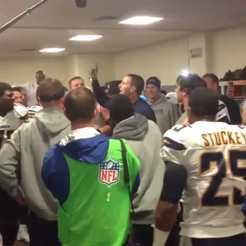 "CHARGERS NATION⚡⚡s post on Vine - Video Brandon Taylor took after Chargers playoff WIN! This never gets old! ""The Chargers are ALIVE!!"" - CHARGERS NATION⚡⚡s post on Vine"
