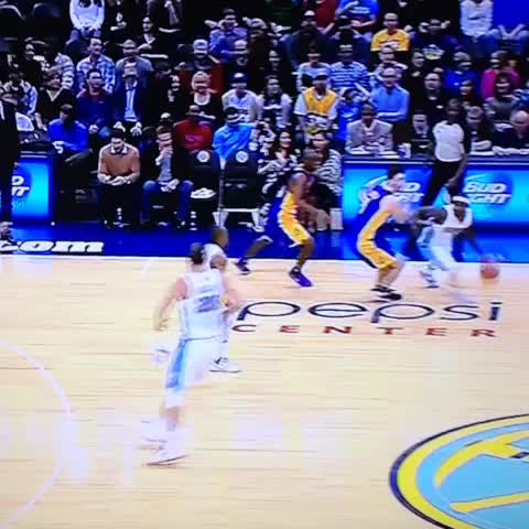 Poor Jodie Meeks ankles just got toasted by Ty Lawson... #LALatDEN - Andrew Baileys post on Vine