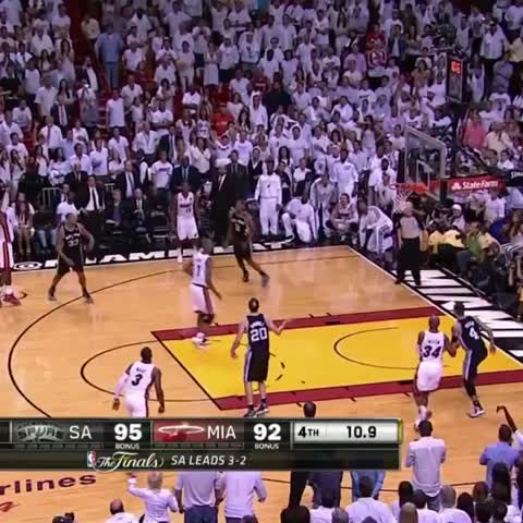 Vine by The NBA on ESPN - Before there was Rays three, there was Boshs rebound in Miami