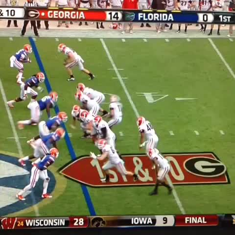 Hunter Tyrees post on Vine - #UGA #GoDawgs #HitStick Douglas destroys Florida defender! - Hunter Tyrees post on Vine