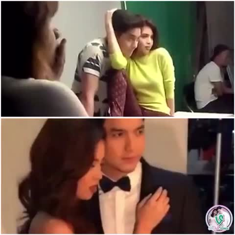Vine by ALDUB Vines HD - Yes & Forbes PH BTS. When he takes control 😏 #ALDUBGoldenWeeksary #AlDub