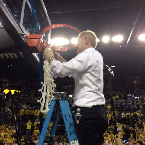 Thank you, Michigan fans. Were not done. #GoBlue #WeWork - Michigan Basketballs post on Vine